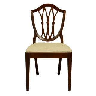 1960's Antique Vintage Solid Cherry Duncan Phyfe Sheild Back Side Chair For Sale