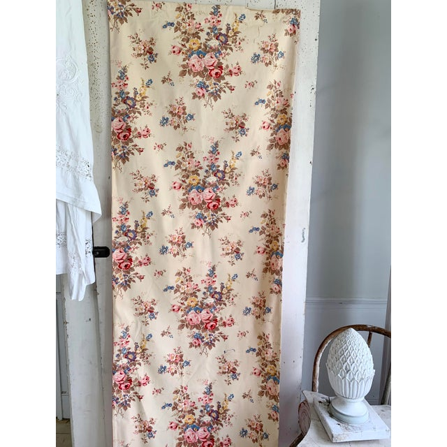 This charming curtain is made of a vintage French floral This textile dates to c1940-1950. This gorgeous large scale...