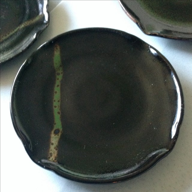 Modern Rustic Studio Pottery Plates - Set of 4 - Image 3 of 4