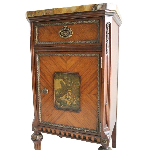French Neoclassical Inlaid Nightstand - Image 5 of 5