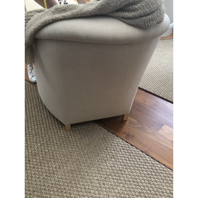 Donghia Plato Chaise in Flax Linen For Sale - Image 12 of 13