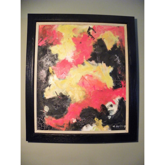 Mid-Century Modern Vibrant Abstract Painting - Image 6 of 6