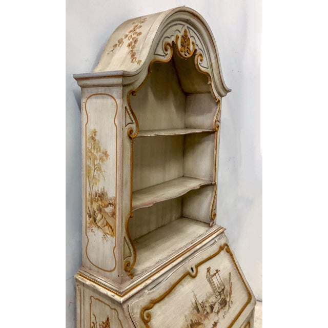 1950s Hand Painted Venetian Secretary For Sale - Image 5 of 9