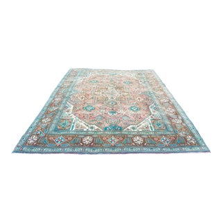 1930s Vintage Handmade Persian Bakshaish Rug-9′9″ × 12′10″ For Sale