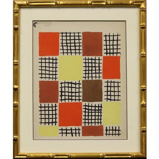 """""""Sonia Delaunay"""" Planche 7 Pochoir Painting For Sale"""