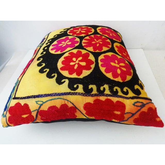 Vintage Uzbek Suzani Pillow - Image 7 of 8