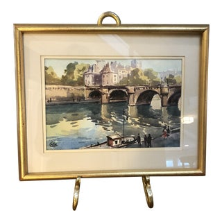 Vintage Watercolor Painting For Sale