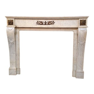 Carrara Marble Mantel For Sale