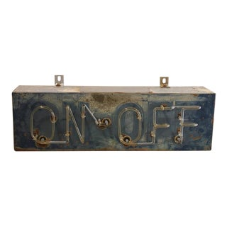 "1930s Vintage Bar ""ON-OFF"" Neon Sign For Sale"