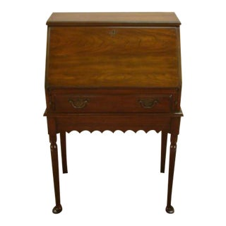 1980s Traditional Pennsylvania House Solid Cherry Secretary Desk For Sale