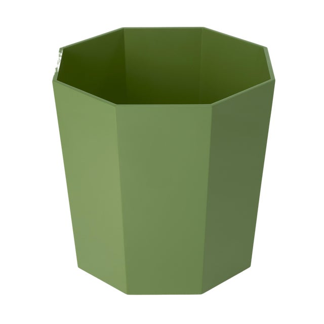 Not Yet Made - Made To Order Miles Redd Collection Octagonal Waste Basket in Lettuce Green For Sale - Image 5 of 5