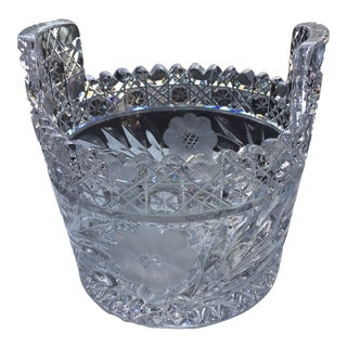 1940s Vintage Crystal Ice Bucket For Sale