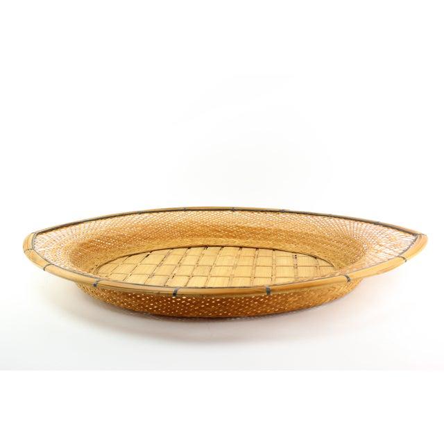 Mid-Century Wicker Tray - Image 3 of 5