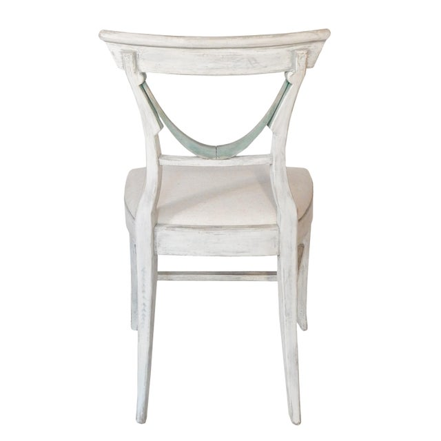 Wood Set of Four Gustavian Style Chairs For Sale - Image 7 of 10