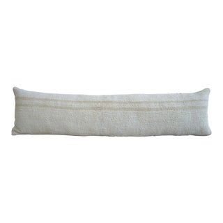 100% Natural Wedding Pillow Covers Kilim Lumbar Pillow. Hemp Sham -13ʺ X 48ʺ For Sale