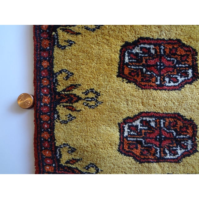 Miniature Hand Knotted Wool Prayer Rug For Sale - Image 5 of 6