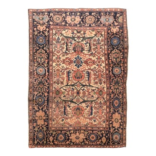 Antique Persian Farahan Sarouk Rug For Sale