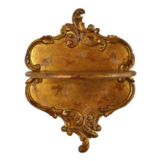 Rococo-Style Giltwood Bracket For Sale
