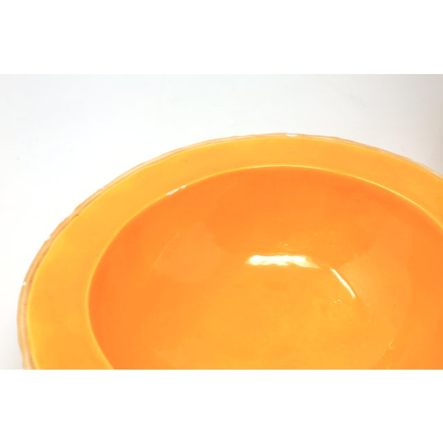 Vintage Ceramic Cantaloupe Bowls - Set of 6 For Sale In Tampa - Image 6 of 10