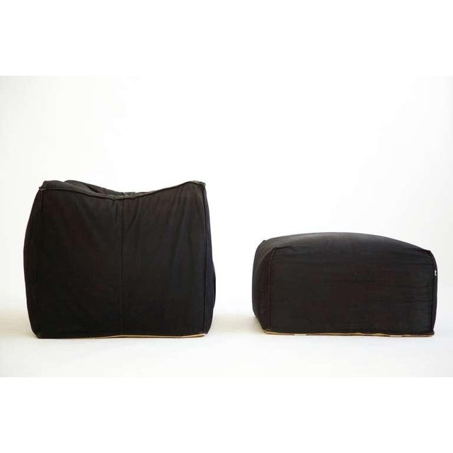 Modern Mario Bellini Lounge Chair and Ottoman For Sale - Image 3 of 5