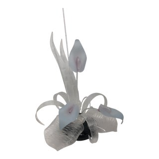1980s Postmodern Lucite Cala Lily Sculpture For Sale