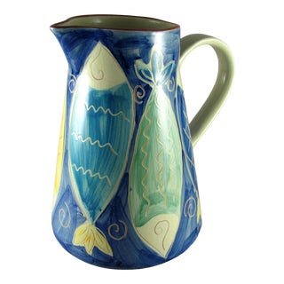 Mid-Century Modern Danish Style Fish Pitcher For Sale