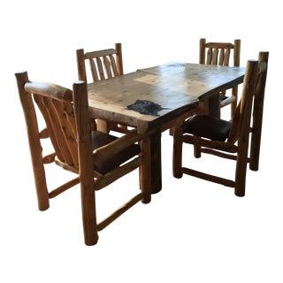 Custom Log Table & Chairs