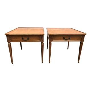 Pair of Henredon Tapered Leg Side Tables
