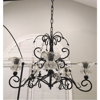 Black Iron Hanging Candle Chandelier Candelabra Preview