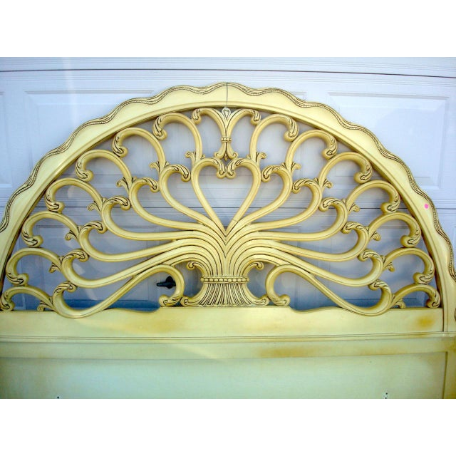 Genova Furniture Co. French Provincial Headboard For Sale - Image 4 of 7