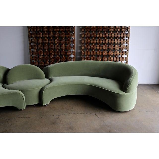 "2000 - 2009 Vladimir Kagan ""Comete"" Sofa for Roche Bobois, 2003 - Set of 3 For Sale - Image 5 of 13"
