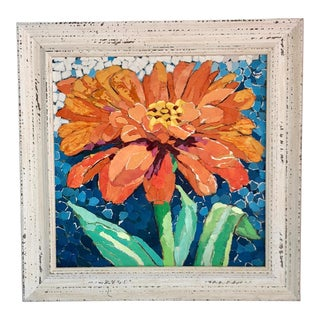 Contemporary Orange Gerbera Daisy Collage For Sale
