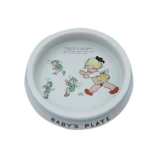 Vintage English Shelley Fairy Baby's Plate For Sale