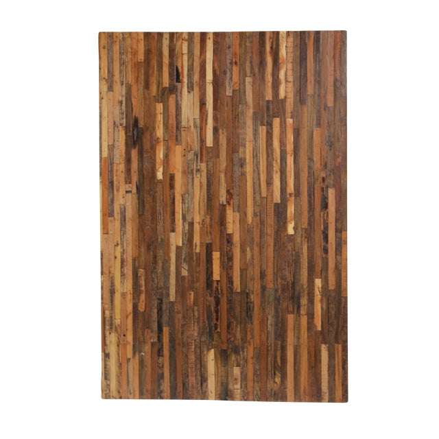 Natural Reclaimed Boat Wood Panel - Image 1 of 2