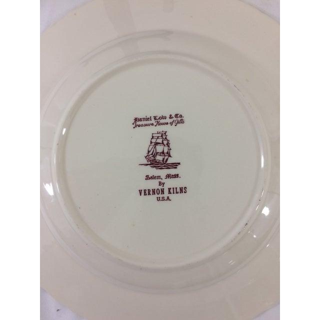 Mid-Century Modern Vintage Salem, Massachusetts Souvenir Plate For Sale - Image 3 of 4