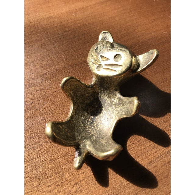 Walter Bosse brass cat that was handmade in Austria. These were originally made as egg holders but are typically just used...