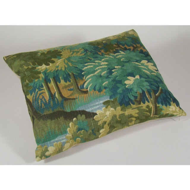 Contemporary Verdure Print Linen Large Lumbar Pillow Cover For Sale - Image 3 of 11