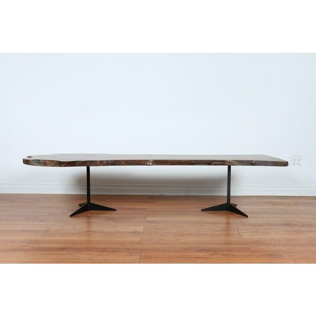 Solid Walnut Wood Slab Coffee Table - Image 7 of 10