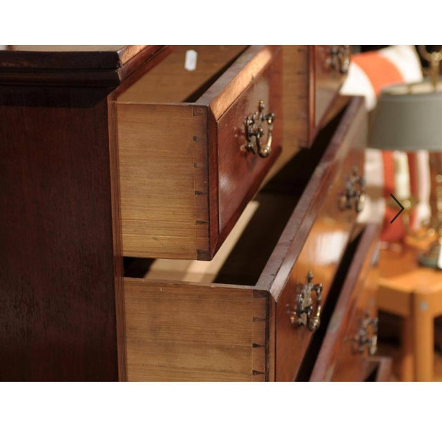 Brown 19th Century English Mahogany Chest For Sale - Image 8 of 10