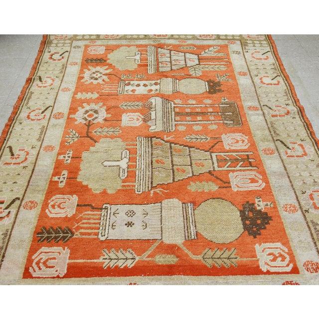 "Boho Chic Antique Khotan Rug,5'x8'5"" For Sale - Image 3 of 7"