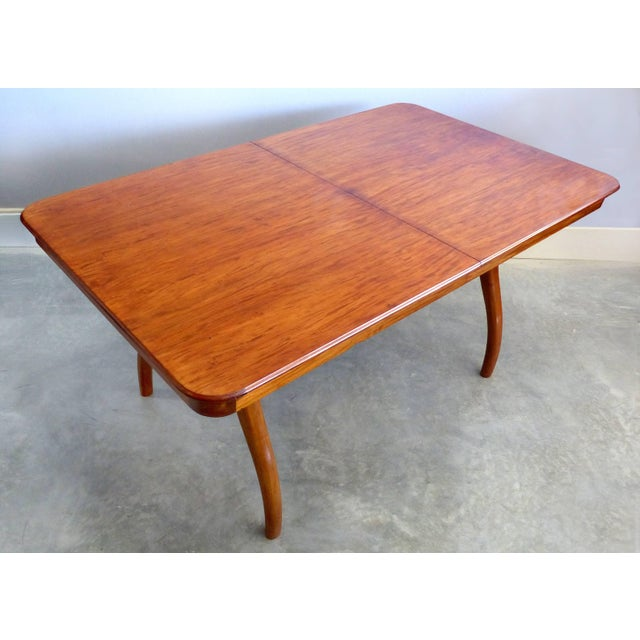 Giuseppe Scapinelli De Rosa Wood Dining Table and Chairs circa 1960 Offered is a Brazilian peroba rosa wood dining table...