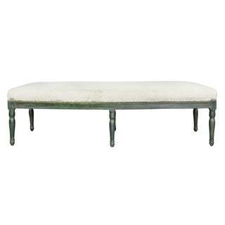 French Restauration Green Painted Bench Preview