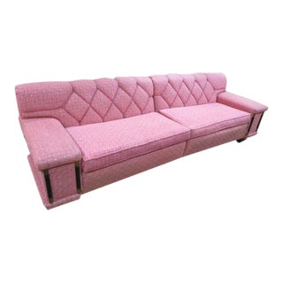 Vintage Mid Century Modern Pink 2pc. Sectional For Sale