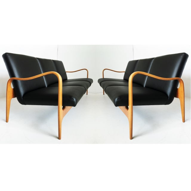 Pair of Modernist Thonet Bentwood Sofas For Sale - Image 13 of 13