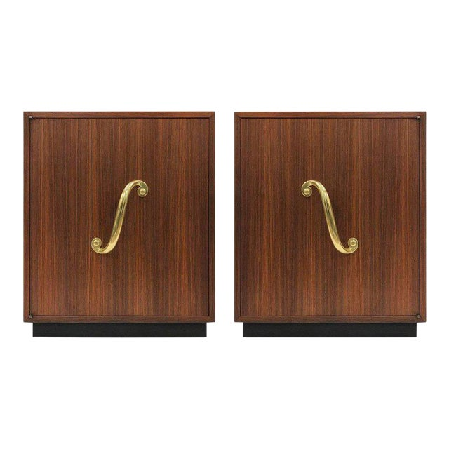 Pair of James Mont Cabinets or Nightstands For Sale