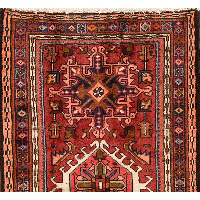 "Islamic Apadana - Vintage Persian Heriz, 2'4"" x 6'1"" For Sale - Image 3 of 5"