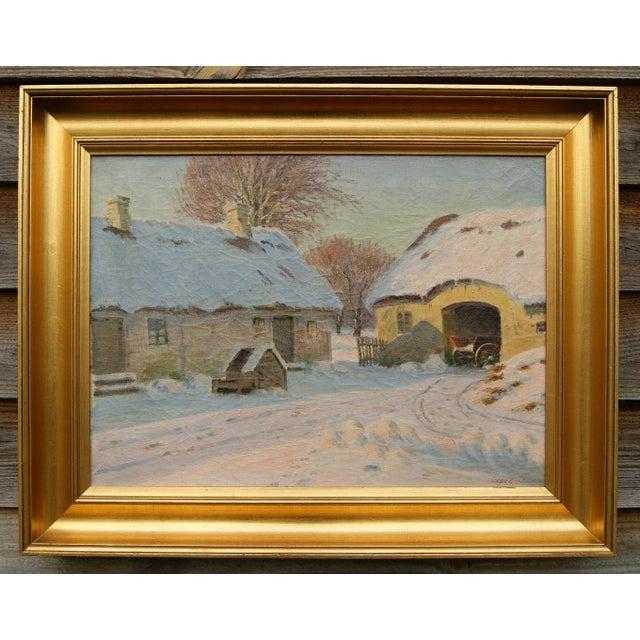 Winter Landscape by Alfred Larsen - Image 2 of 5