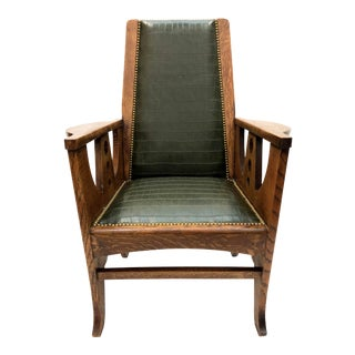 Arts & Crafts Mission Oak Armchair For Sale