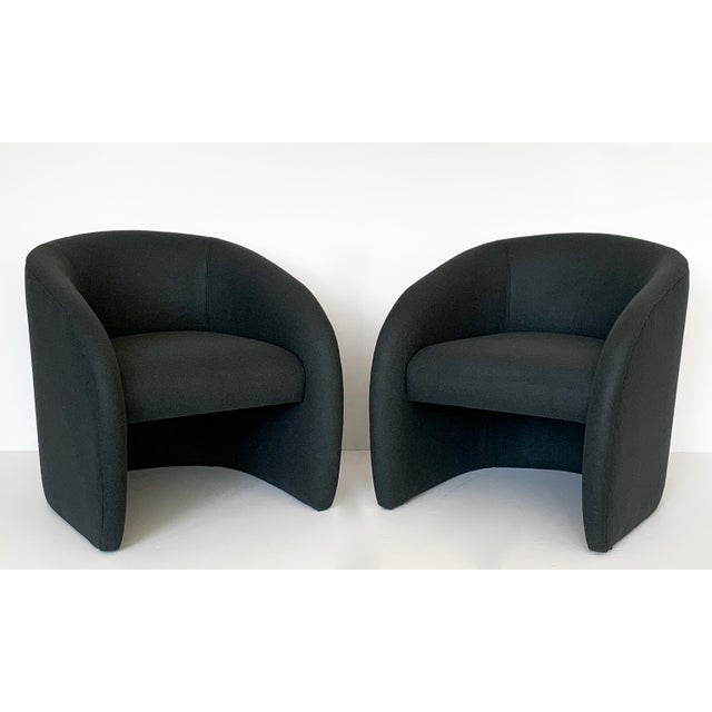 "Designer: Directional USA - Circa 1980s Dimensions: 28.5"" H x 26.5"" W x 29.5"" D Seat 18"" H Condition: Newly upholstered...."