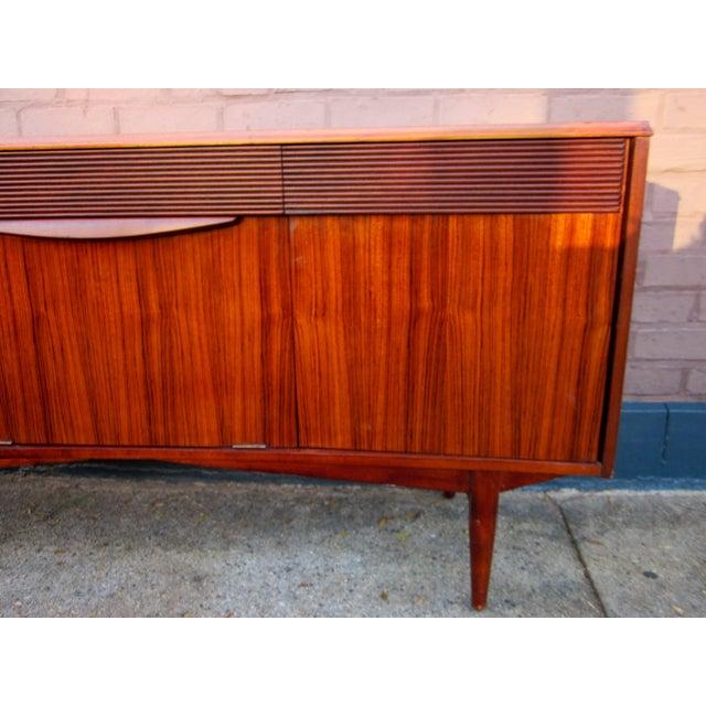Wood Vintage Danish Modern Rosewood Credenza For Sale - Image 7 of 13